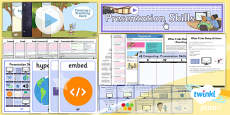 PlanIt - Computing Year 3 - Presentation Skills Unit Pack