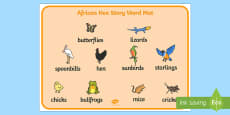 Story Word Mat Images to Support Teaching on Handa's Hen