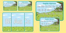 English Alphabet Display Poster