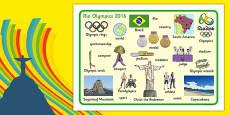 Rio Olympics 2016 Word Mat