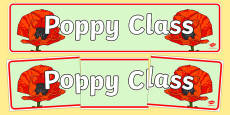 Poppy Themed Classroom Display Banner