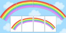 Large Rainbow for Display