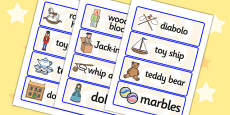 Toys from the Past Word Cards