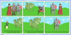 St George And The Dragon Story Sequencing