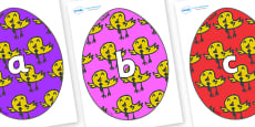 Phase 2 Phonemes on Easter Eggs (Chicks)
