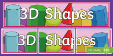 3D Shapes Display Banner