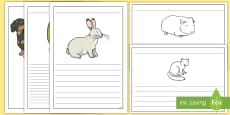 Pet Themed Writing Frames