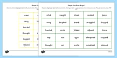 Simple Past Tense Bingo