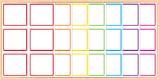 Blank Square Peg Labels