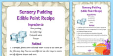 Sensory Pudding Edible Paint Recipe