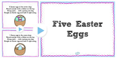Five Easter Eggs Counting Song PowerPoint