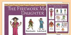 The Firework Maker's Daughter Vocabulary Mat