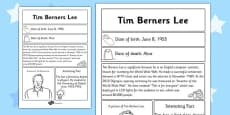 Tim Berners-Lee Significant Individual Fact Sheet