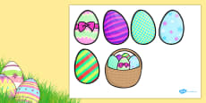 Five Easter Eggs Counting Song Cut Outs