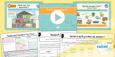 * NEW * PlanIt - Year 5 French - Family and Friends Lesson 4: In My House Lesson Pack