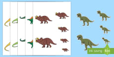 Size Ordering to Support Teaching on Harry and the Bucketful of Dinosaurs