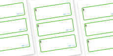 Pine Tree Themed Editable Drawer-Peg-Name Labels (Blank)