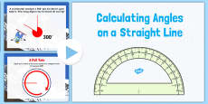 Year 6 Calculating Angles on a Straight Line PowerPoint
