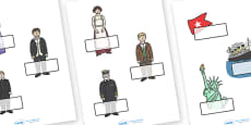 Editable Self Registration Labels (Titanic)