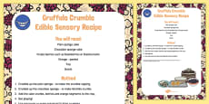 Gruffalo Crumble to Support Teaching on The Gruffalo Edible Sensory Recipe