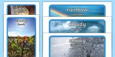 * NEW * Weather Display Photos English/Romanian