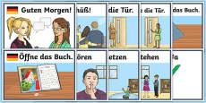 Classroom Commands Display Posters German