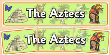 Aztec Display Banner