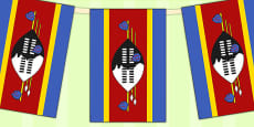 Swaziland Flag Display Bunting