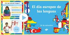 El día europeo de las lenguas PowerPoint informativo