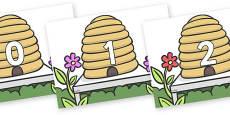 Numbers 0-100 on Beehives