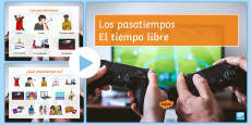 * NEW * Hobbies and Free Time Activities PowerPoint Spanish