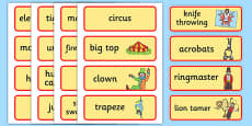 Circus Word Cards