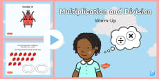 * NEW * Year 1 Multiplication and Division Warm-Up PowerPoint