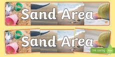 Sand Area Photo Display Banner