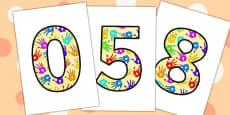 A4 Handprint Display Numbers
