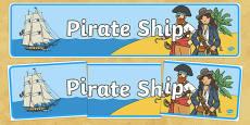 Pirate Ship Display Banner