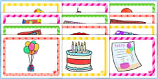 7th Birthday Party Place Mats