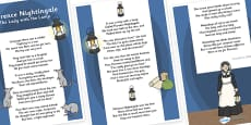 Florence Nightingale Poem Display Poster