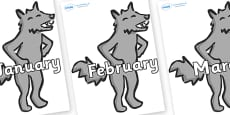 Months of the Year on Wolf