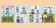 Oliver Vegetables Story Sequencing Cards
