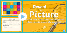 * NEW * Place Value (2-Digit Numbers) Reveal the Picture Plenary Activity