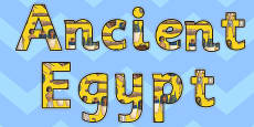 Ancient Egypt Display Letters
