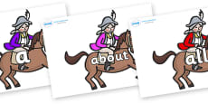 100 High Frequency Words on King's Horses