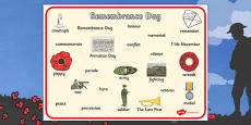 Remembrance Day Word Bank