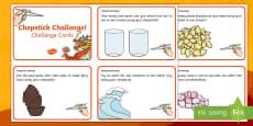 Chopstick Challenge Cards