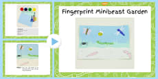 Fingerprint Minibeast Garden Craft Instructions PowerPoint