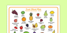 Fruit Word Mat Polish Translation