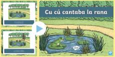 Cu cu Cantaba la rana Nursery Rhyme PowerPoint