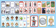Story Writing Prompt Cards Pack Romanian