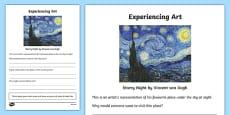 Experiencing Art Activity Sheet